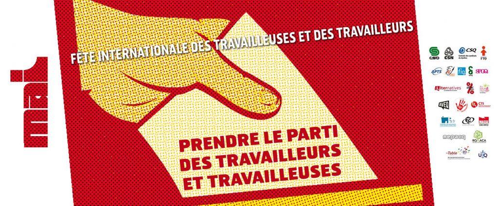 Le 28 avril 2018 – Manifestation à Montréal: Prendre le parti des travailleurs et des travailleuses