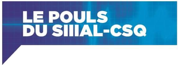Le POULS du SIIIAL-CSQ – Mai 2017 -Volume 8, No 3