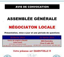 Avis de convocation – Assemblée générale de NÉGO LOCALE